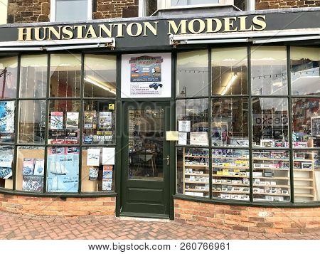 Hunstanton, Uk - September 22, 2018: Hunstanton Models, Local Hobby Model Plane And Train Business,