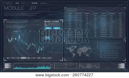 Hud. Beautiful With Hud. Stock Stock Market Finance Illustration. Graph Chart Data Background. Inter
