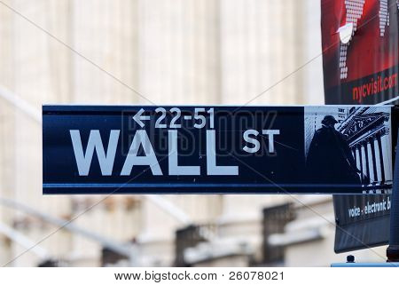 NEW YORK CITY - AUG 8: Wall Street, a metonym for the