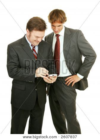 Businessmen Play Electronic Games