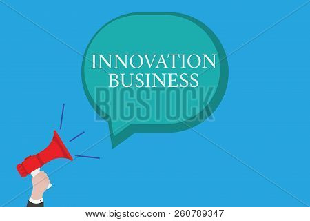 Conceptual Hand Writing Showing Innovation Business. Business Photo Text Introduce New Ideas Workflo