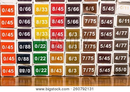 Color Chart Of Chemical Hair Dye Color At Salon
