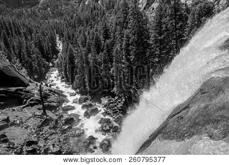 Vernal Fall Is A 317-foot Waterfall On The Merced River Just Downstream Of Nevada Fall In Yosemite N