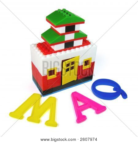 Alphabet And Toy House