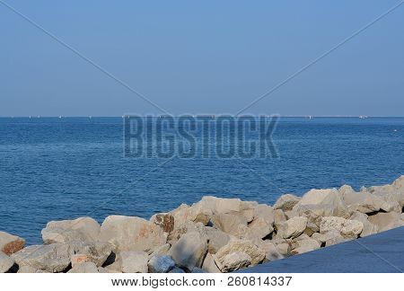 View Of The Sea Level, Grado, Italy