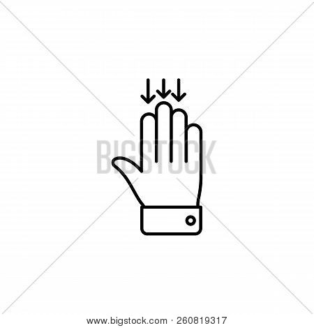 Click, Touchpad, Touch, Outline Icon. Element Of Simple Icon For Websites, Web Design, Mobile App, I