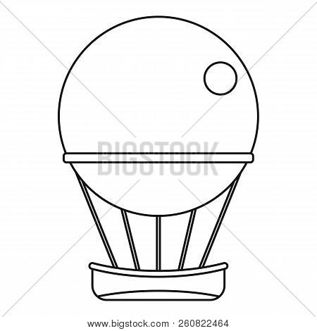 Air Balloon Journey Icon. Outline Illustration Of Air Balloon Journey Icon For Web