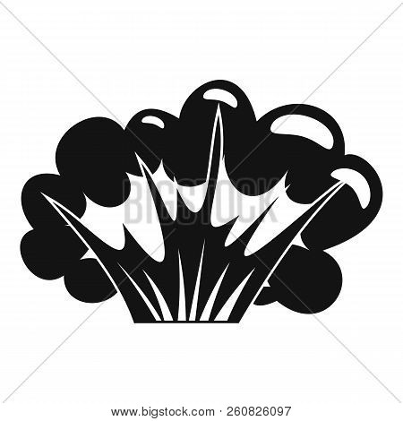 High Powered Explosion Icon. Simple Illustration Of High Powered Explosion Icon For Web
