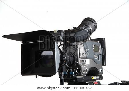 Professional studio Video Camera front