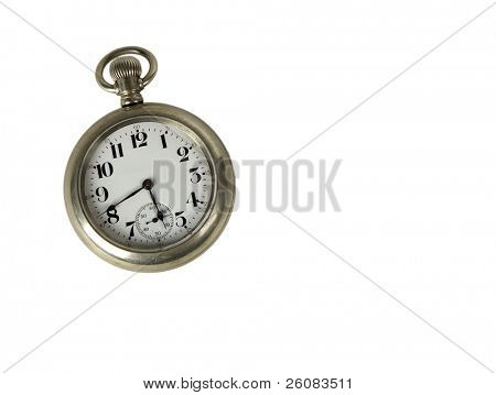 Isolated antique pocket watch