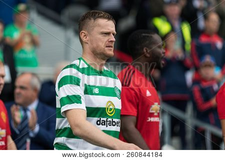 September 25th, 2018, Cork, Ireland - Damien Duff Enters The Pairc Ui Chaoimh Pitch For The Liam Mil