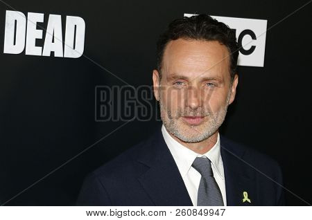 Andrew Lincoln at the premiere of AMC's 'The Walking Dead' Season 9 held at the DGA Theater in Los Angeles, USA on September 27, 2018.