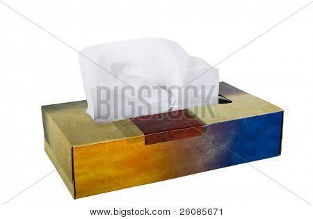 Tissue box isolated on white