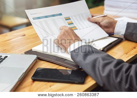 Business And Finance Concept Of Office Working,teamwork Of Businessmen Discussing Business Investmen
