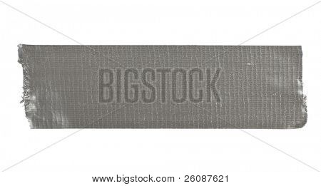 Stripe of duct tape isolated on white
