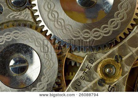 Watch gears macro shot