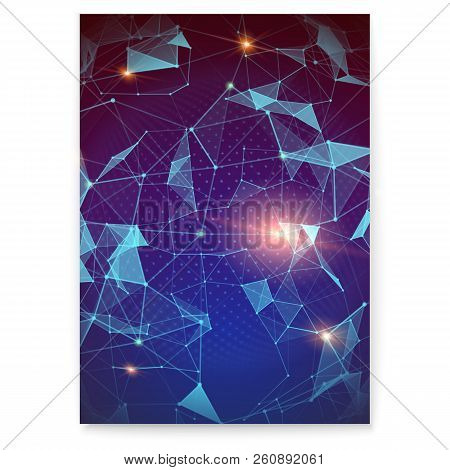 Plexus. Abstract Digital Poster Representing The Global Interaction. Concept Of Global Network For F