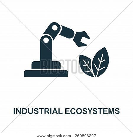 Industrial Ecosystems icon. Monochrome style design from industry 4.0 icon collection. UI and UX. Pixel perfect industrial ecosystems icon. For web design, apps, software, print usage. poster