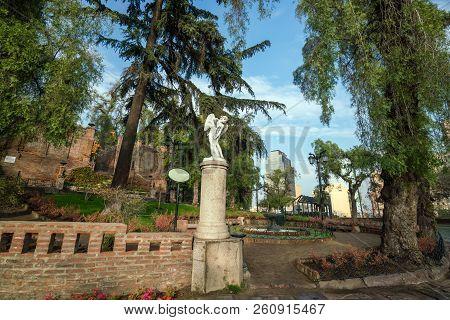 Cerro Santa Lucia In Downtown Santiago, Chile.