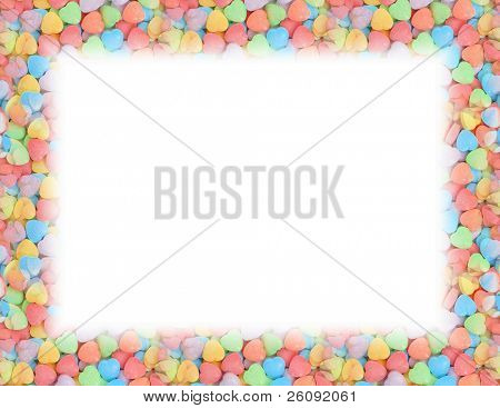 Candy heart border.