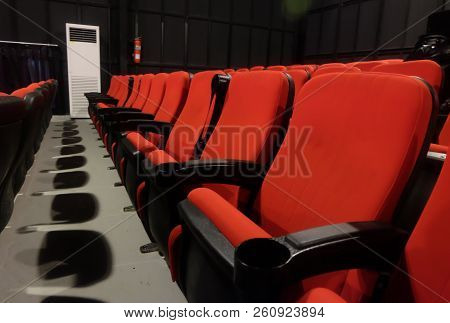 Red Chair In The Theater, Empty Red Chair In The Theater.