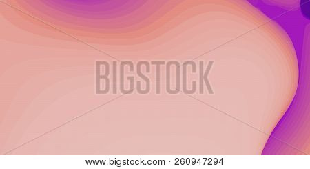 Abstract Paper Cut Terrain. Colorful Paper Sclices With Gradient Effect Form 3d Hills. Minimalistic
