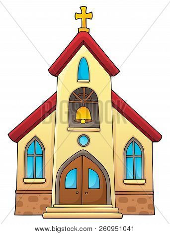 Church Building Theme Image 1 - Eps10 Vector Picture Illustration.