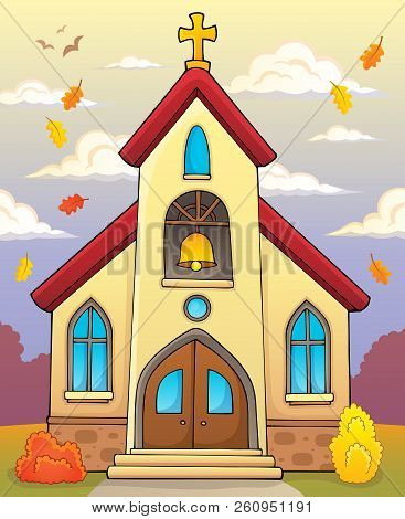 Church Building Theme Image 3 - Eps10 Vector Picture Illustration.