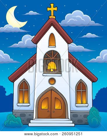 Church Building Theme Image 4 - Eps10 Vector Picture Illustration.
