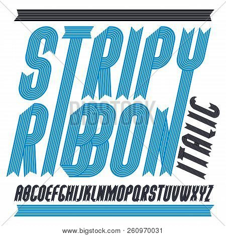Vector Trendy Modern Uppercase Alphabet Letters Collection. Classic Bold Italic Condensed Type Font,