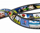 Film strip with vacation photos poster