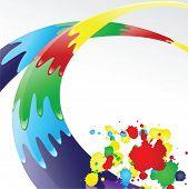 Color ink splashes.   Vector illustration poster