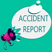 Conceptual hand writing showing Accident Report. Business photo text A form that is filled out record details of an unusual event poster