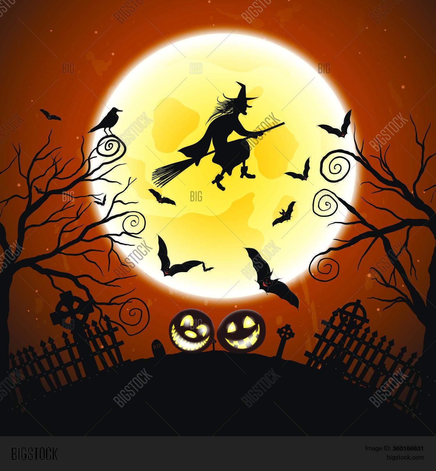 Ensemble De Barriere De Halloween Vecteurs Libres De Droits Et Plus D Images Vectorielles De Arbre Istock