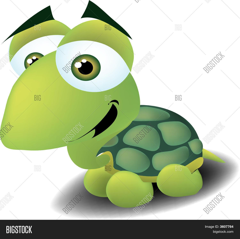 Cute Turtle Vector Photo Free Trial Bigstock