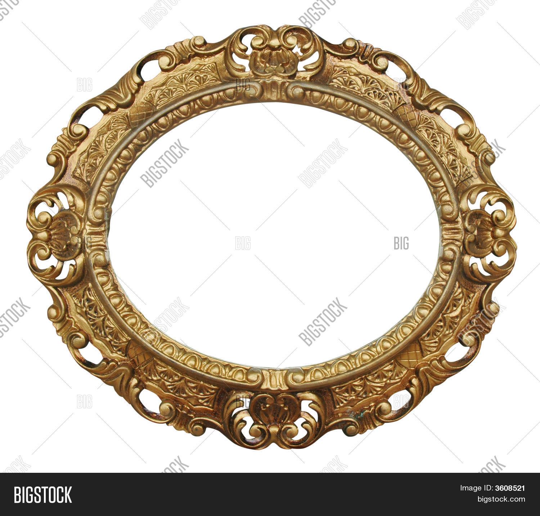Oval Gilded Frame Image & Photo   Bigstock