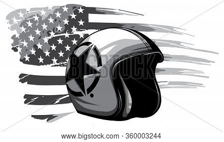 Monochromatic America Veteran Day, Memorial Day, Independence Day, Usa Flag Artwork