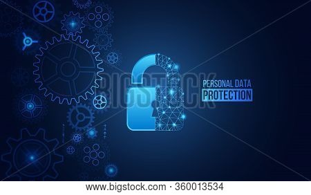 Global Network Security Mechanism. Information Privacy. Internet Protection Online Concept. Cyber Se
