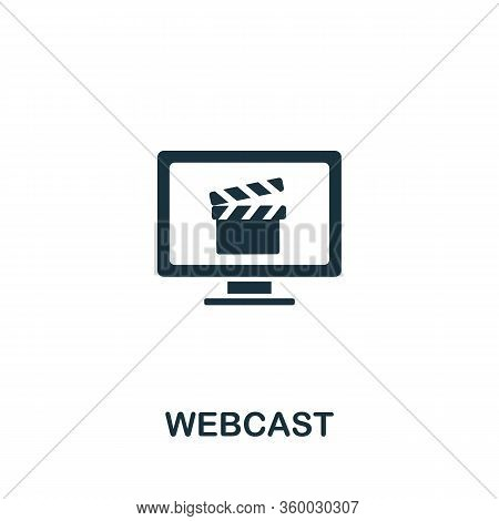 Webcast Icon From Streaming Collection. Simple Line Webcast Icon For Templates, Web Design And Infog
