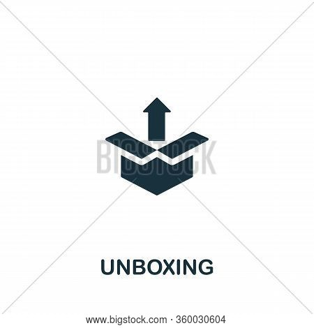 Unboxing Icon From Streaming Collection. Simple Line Unboxing Icon For Templates, Web Design And Inf