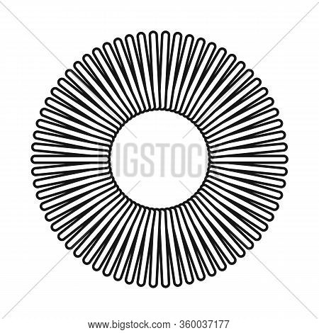 Vector Illustration Of Coil And Plastic Symbol. Graphic Of Coil And Spiral Stock Vector Illustration