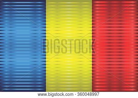 Shiny Grunge Flag Of The Romania - Illustration,  Three Dimensional Flag Of Romania