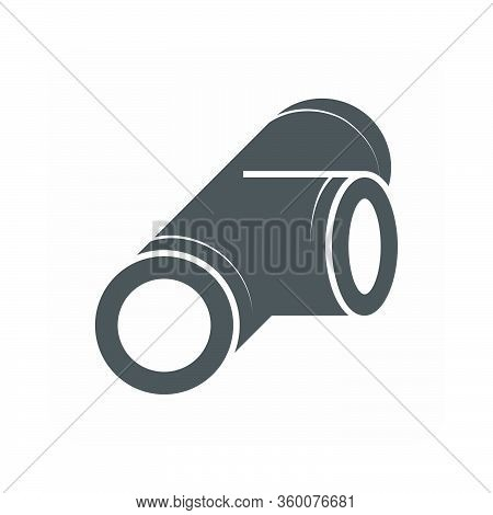 Air Duct Pipe For Hvac System Vector Icon Design On White Background.