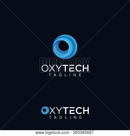 Letter O Tech Logo Design Vector Stock . Circle Tech Logo Design Template . Round Logo Elements Vect
