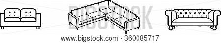 Sofa Icon Isolated On Background , Sofa Interior, Sofa Vector, Style