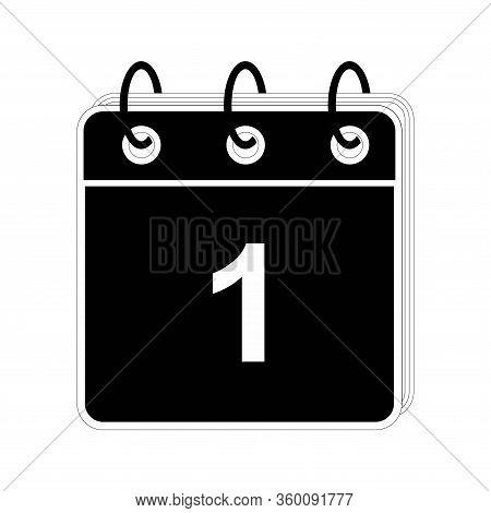 Calendar Icon 1 Isolated On White Background, Calendar Icon Vector Flat Modern, Calendar Icon, Calen