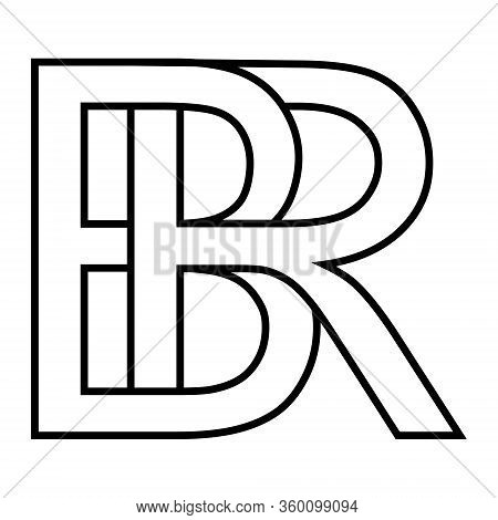 Logo Sign Br, Rb Icon Sign Two Interlaced Letters B And R Vector Logo Br Rb First Capital Letters Pa