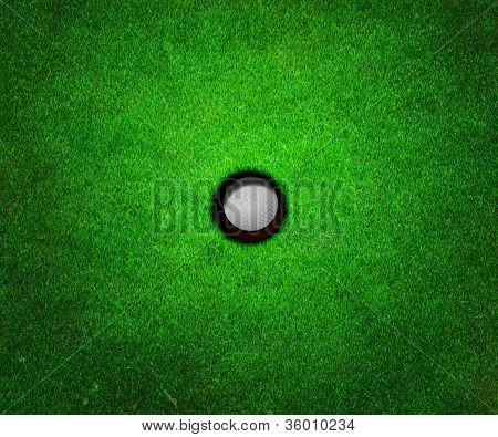Ball in Hole Golf Background