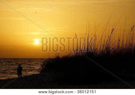 Sunset over Gulf