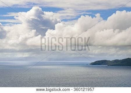 Travel Vacation Tropical Destination. Seascape Peninsula Landscape. Travel Vacations Destination. Tr